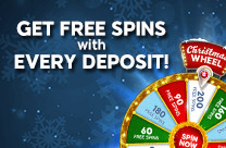 Grab up to 200 free spins in our Christmas wheel throughout December!