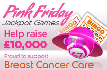 Play bingo for charity on Pink Friday